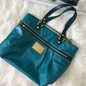 Coach Poppy patent tote